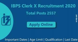 IBPS Clerk X 2020 Recruitment