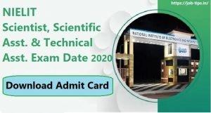 NIELIT Exam Date 2020