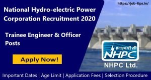 National Hydro-electric Power Corporation Recruitment 2020