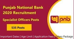 Punjab National Bank 2020 Recruitment
