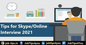Tips for Skype / Online Interview 2021