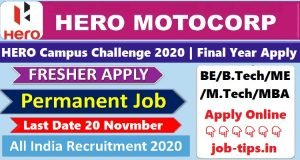 HERO MOTOCORP Campus Recruitment 2020