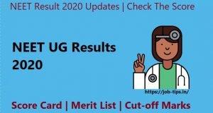 NEET UG Results 2020