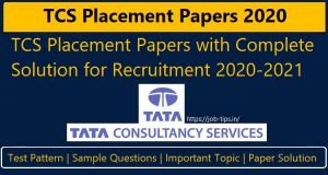 TCS Placement Papers 2020