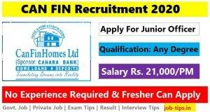 CAN FIN Recruitment 2020