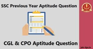SSC Previous Year Aptitude Question