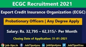 Export Credit Insurance Organization Recruitment 2021