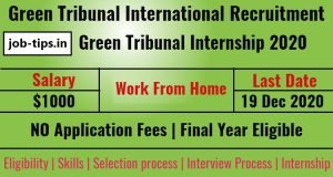 Green Tribunal International Recruitment 2020