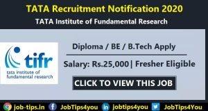 TATA Recruitment 2020