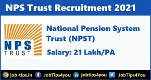 NPS Trust Recruitment 2021