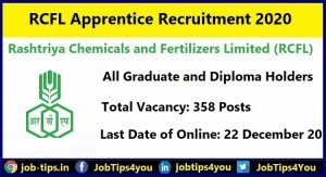 RCFL Apprentice Recruitment 2020