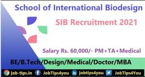 School of International Biodesign Recruitment 2021