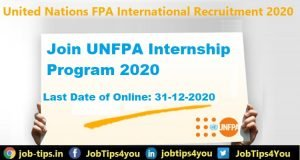 UNFPA Internship Program 2020