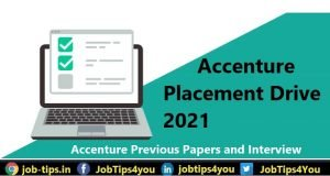 Accenture Placement Drive 2021