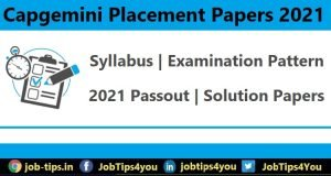 Capgemini Placement Papers 2021