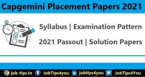 Capgemini Placement Papers 2021