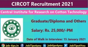 Central Institute for Research on Cotton Technology Recruitment 2021
