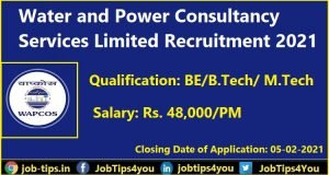 Water and Power Consultancy Services Limited Recruitment 2021