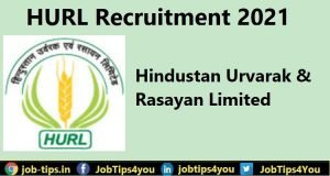 HURL Recruitment 2021