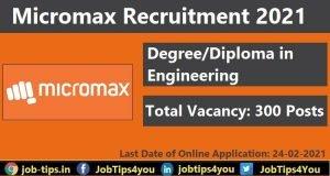 Micromax Recruitment 2021
