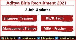 Aditya Birla Group Job 2021