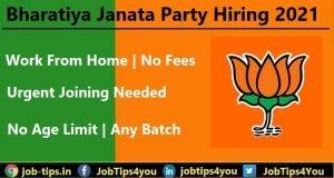 Bharatiya Janata Party Hiring 2021
