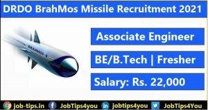 DRDO BrahMos Missile Recruitment 2021