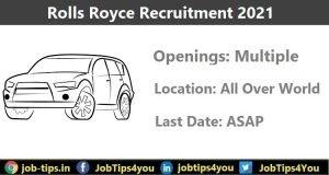 Rolls Royce Job Update 2021