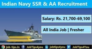 Indian SSR & AA Recruitment 2021