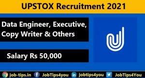 Upstox Job Update 2021
